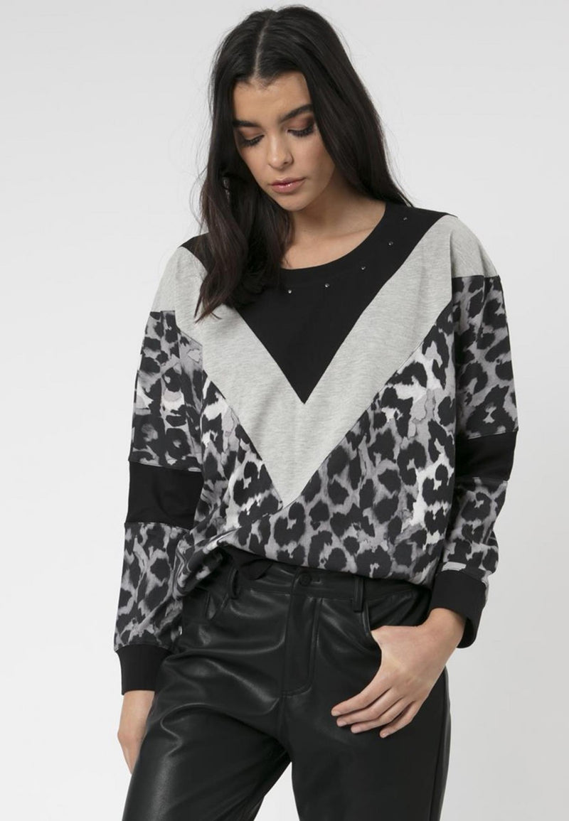 Crown Long Sleeved Top Panthera Print