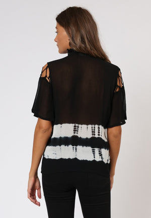 RELIGION ECLIPSE TOP - JET BLACK/WHITE