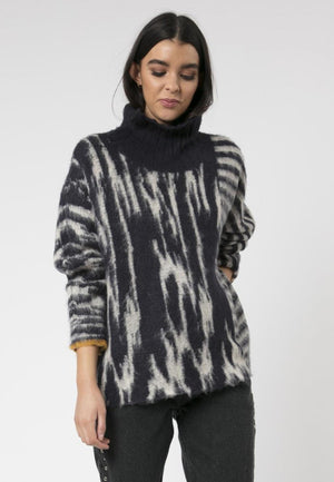 Gemini Roll Neck Jumper Eclipse