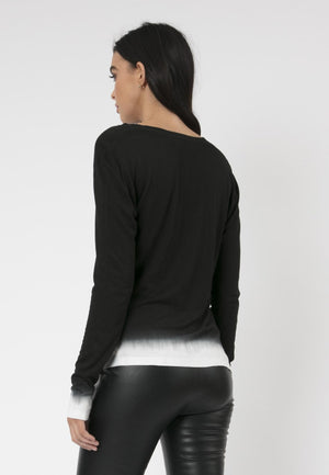 Immersion Long Sleeved Top Black & Winter White