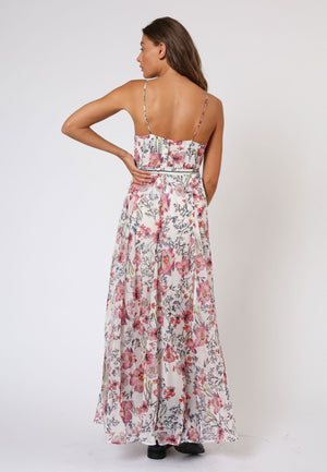 RELIGION ETHEREAL MAXI DRESS - BOTANY LIGHT PRINT
