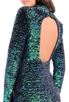 FOREVER UNIQUE ROSALYN SEQUIN BODYCON DRESS - GREEN