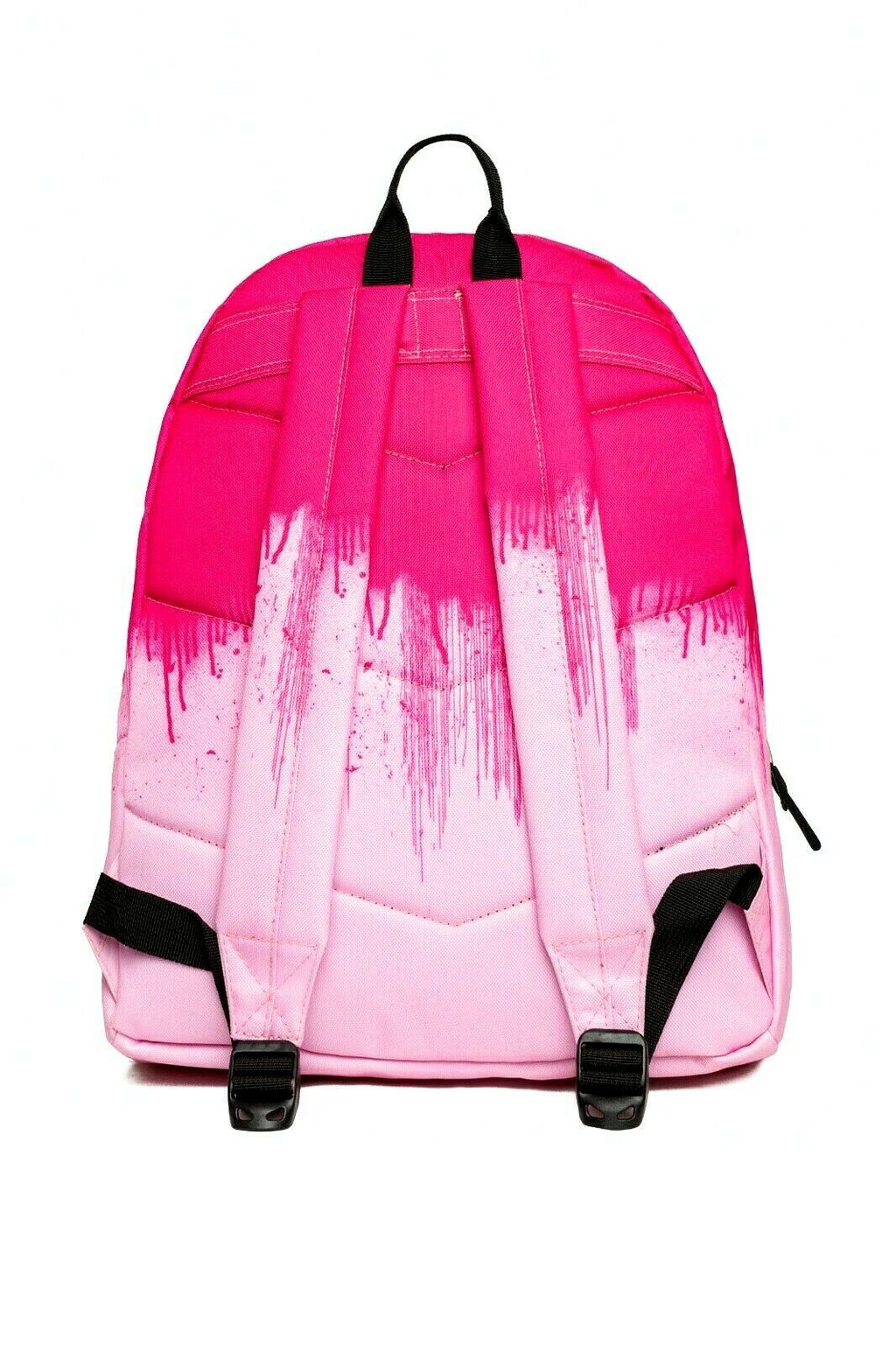 HYPE HALF DRIPS BACKPACK RUCKSACK BAG - FUSCHIA