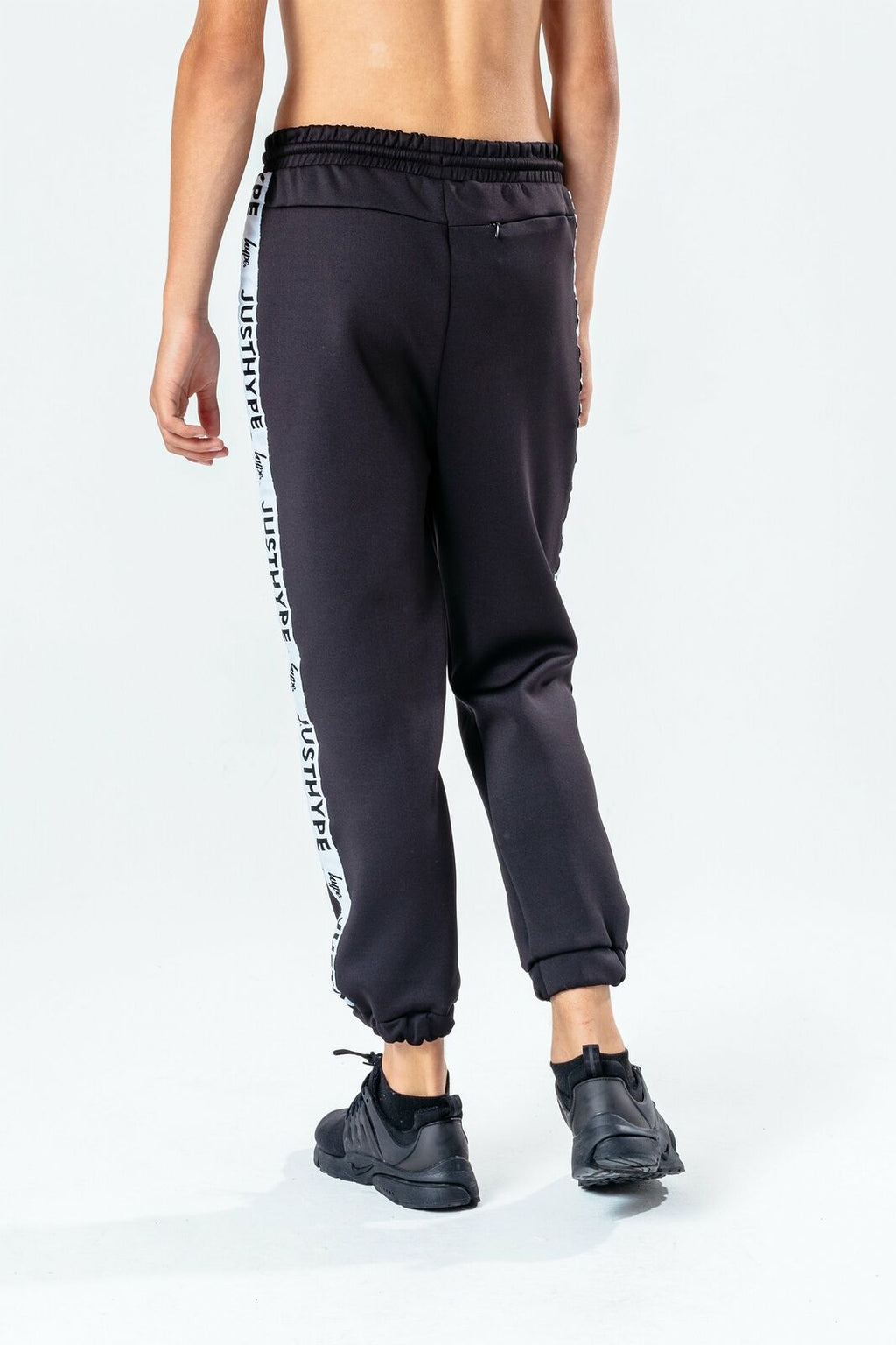 Speckle Fade Poly Kids Joggers - Black/White