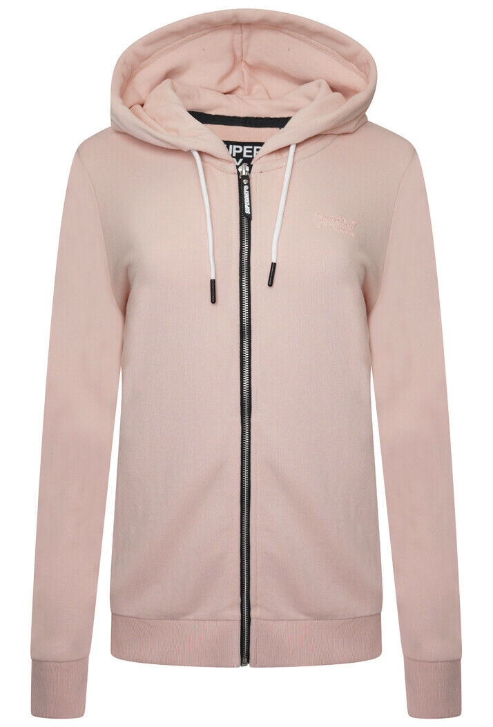 Orange Label Elite Zip Hoodie - Dusty Pink