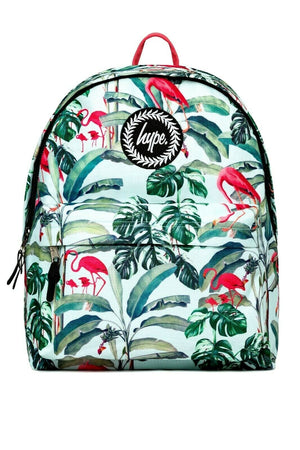 HYPE FLAMINGO PARADISE BACKPACK RUCKSACK BAG - MULTI