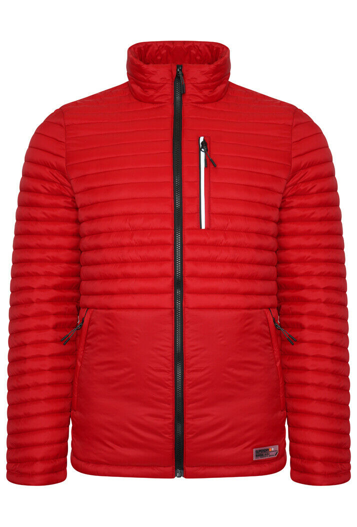 Packaway Non-Hooded Dark Red Fuji Jacket