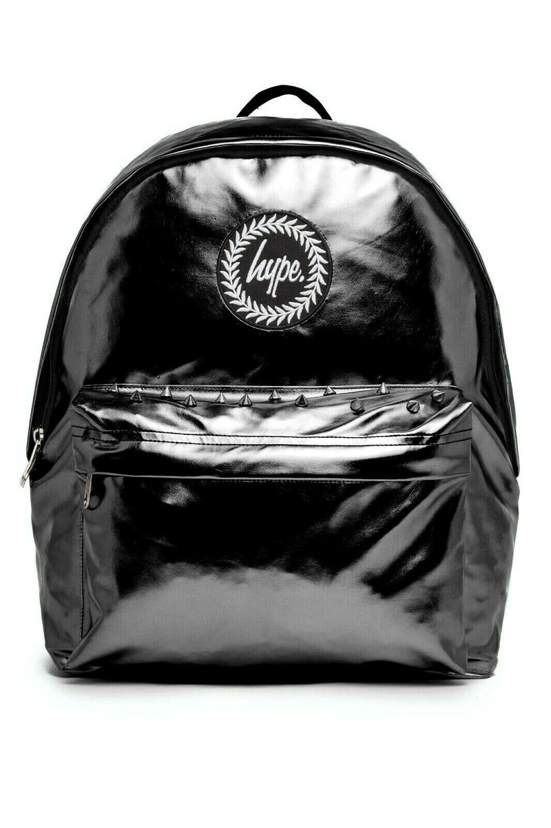 HYPE PHANTOM HOLOGRAPHIC BACKPACK RUCKSACK BAG - BLACK