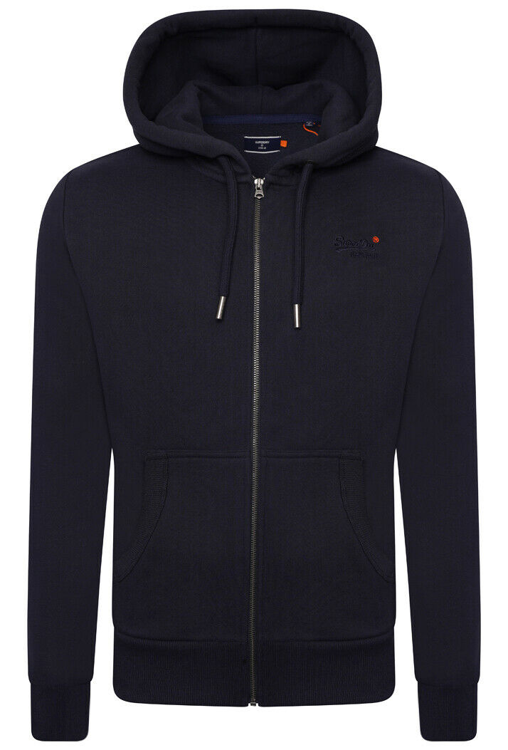 Orange Label Classic Zip Hoodie NS - Rich Navy