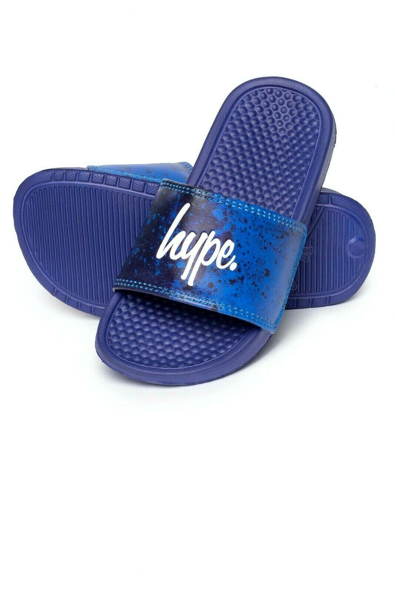 Paint Splatter Kids Sliders - Blue