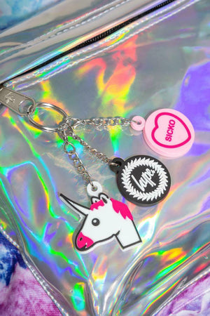 HYPE UNICORN HOLO BACKPACK RUCKSACK BAG - MULTI