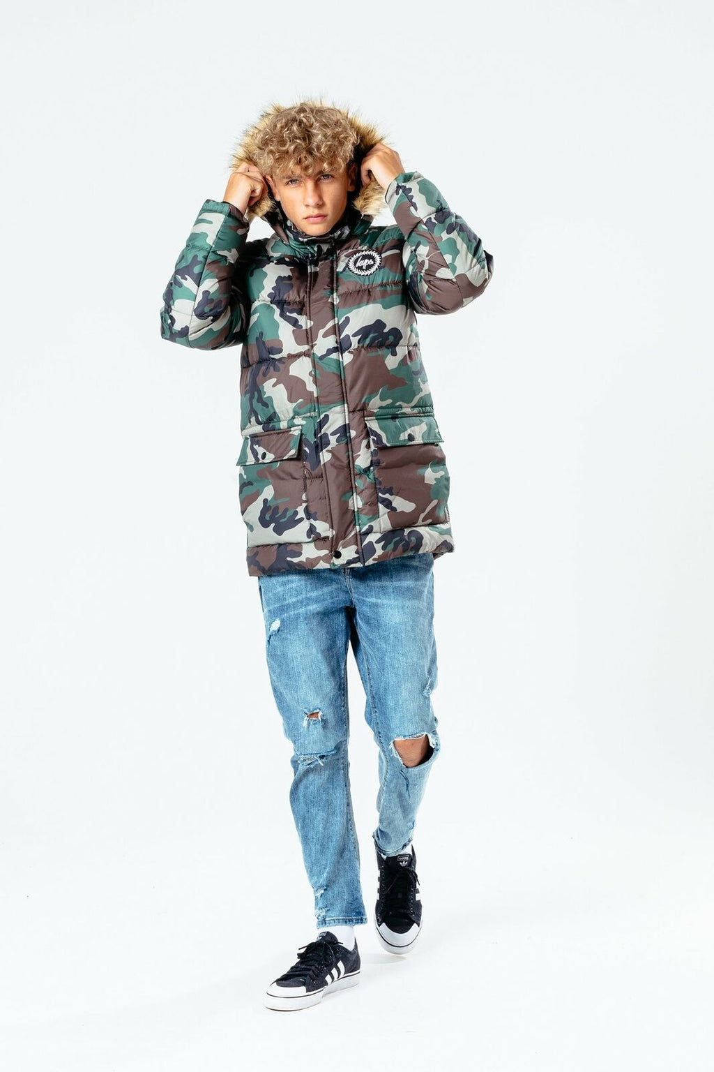 Camo Kids Explorer Jacket - Khaki