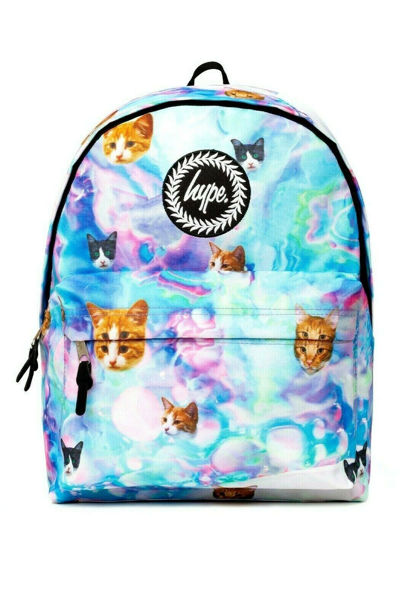 HYPE HOLO KITTY BACKPACK RUCKSACK BAG - MULTI