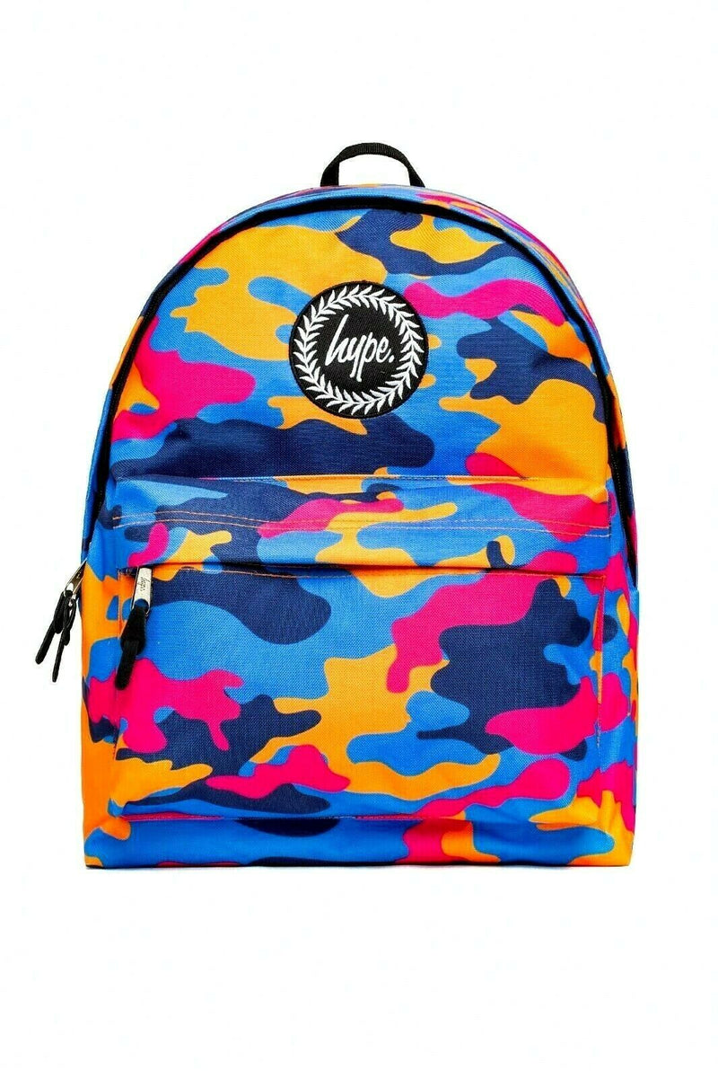HYPE DUNK CAMO BACKPACK RUCKSACK BAG - MULTI