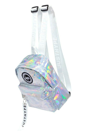 Iridescent Mini Backpack - Silver