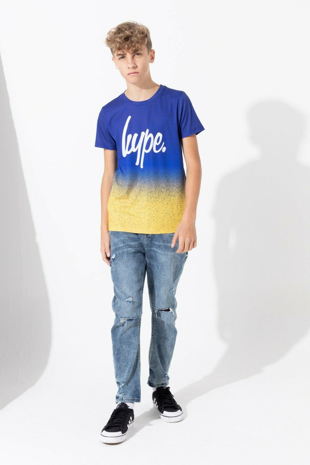 Speckle Fade Blue/Mango Kids T-Shirt
