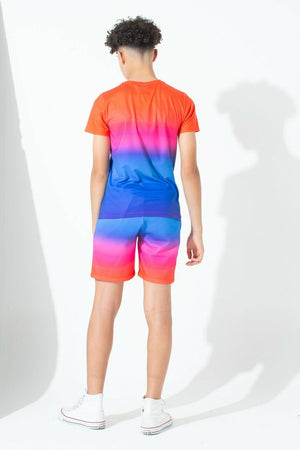 Rainbow Fade Kids Shorts