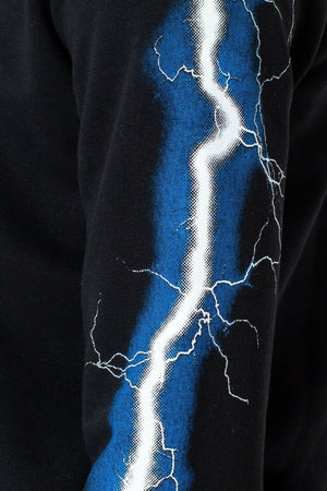 Lightning Arm Black Kids Pullover Hoodie