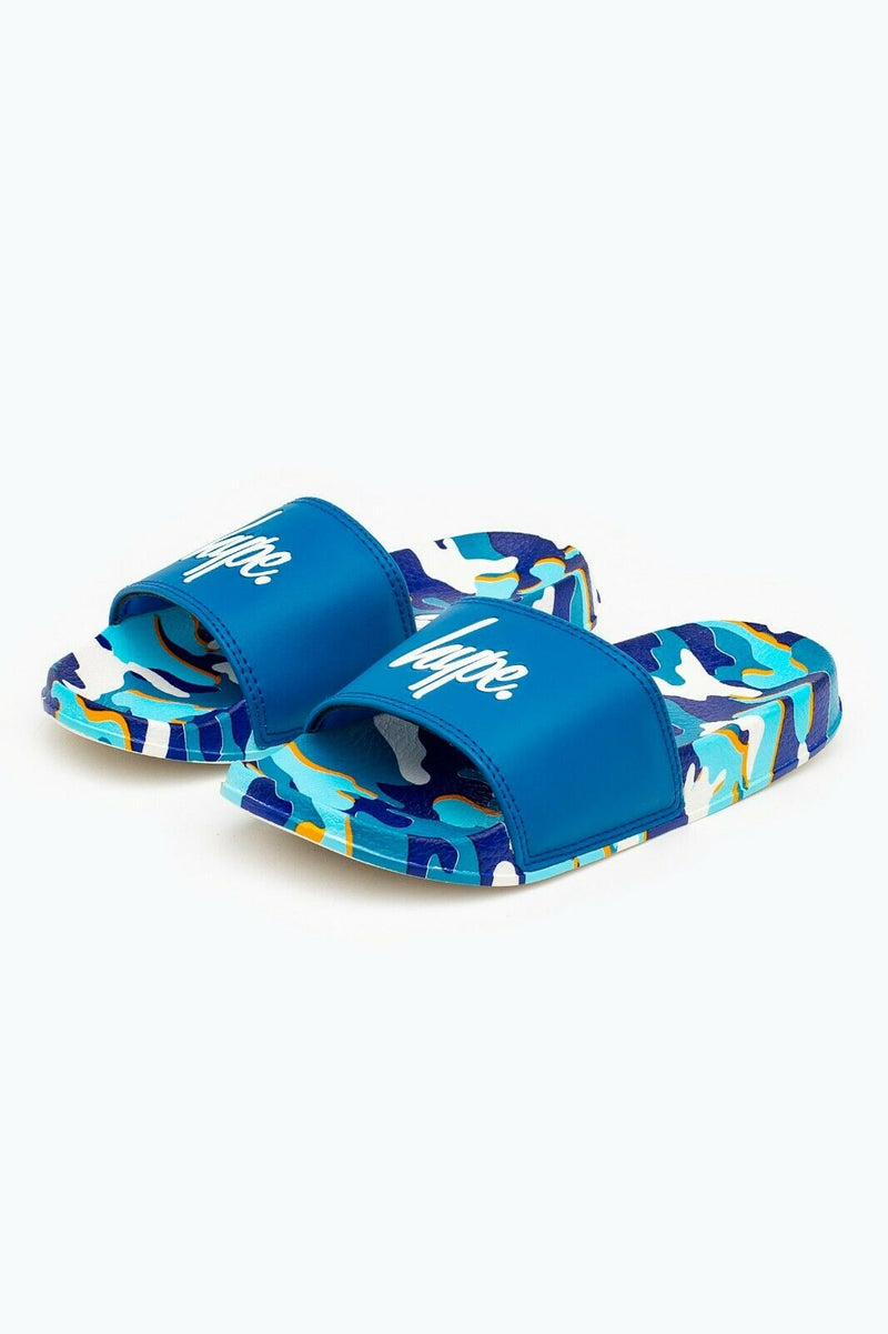 Blueline Camo Kids Sliders
