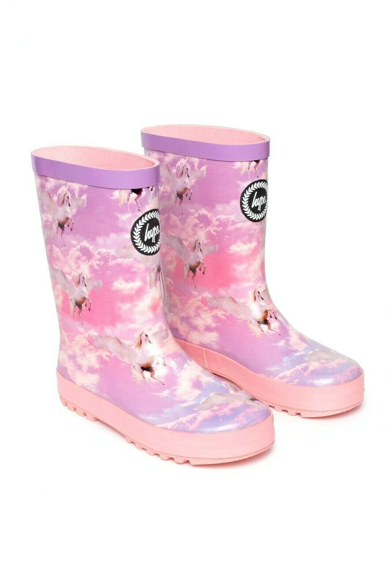 Girls Unicorn Wellies - Pink