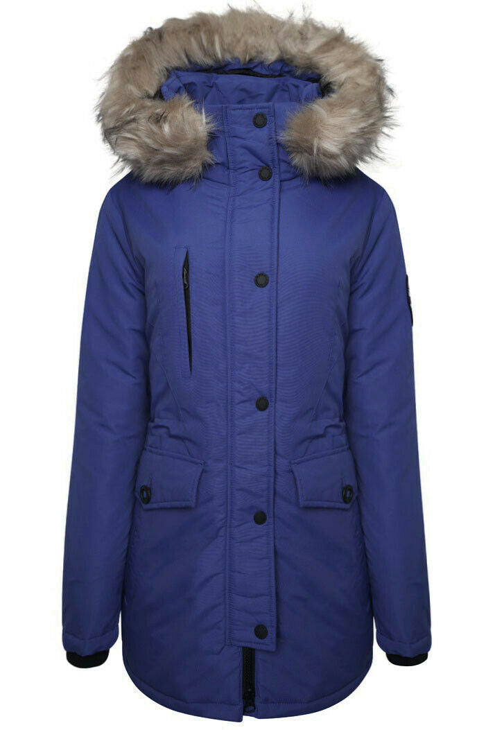 Ashley Everest Parka Jacket - Cobalt