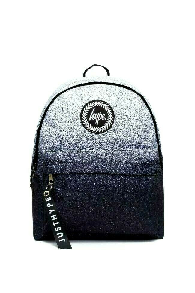 HYPE MONO SPECKLE FADE MINI BACKPACK RUCKSACK BAG - BLACK/WHITE