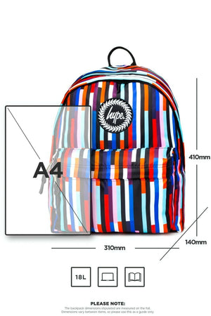 Multi Stripe Backpack