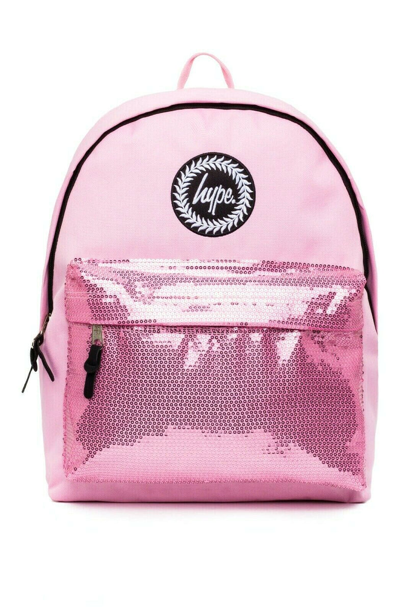 HYPE ORCHID SEQUINS BACKPACK RUCKSACK BAG - PINK