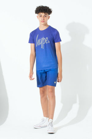 Speckle Fade Blue Kids T-Shirt
