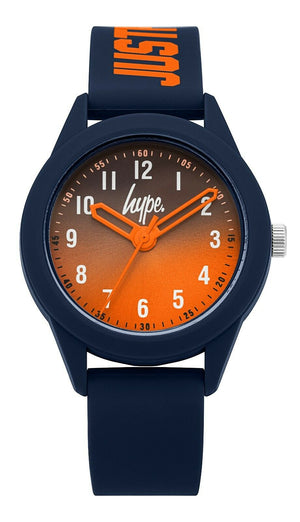 Kids Navy/Orange Soft Touch Watch