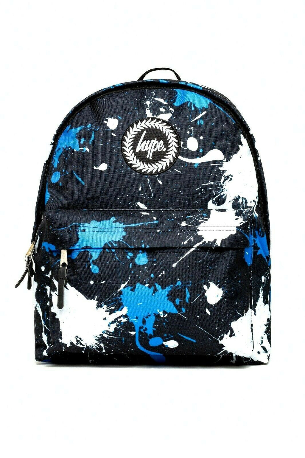 HYPE SPLATTER BACKPACK RUCKSACK BAG - BLACK/WHITE/BLUE