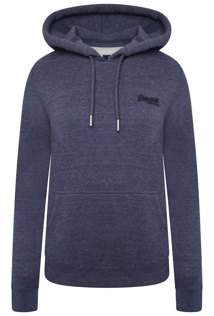 Orange Label Classic Hoodie - Navy Marl