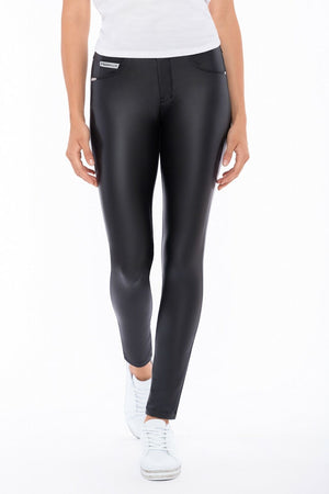 Slim-Fit N.O.W.® Faux Leather Pants Trousers - Black