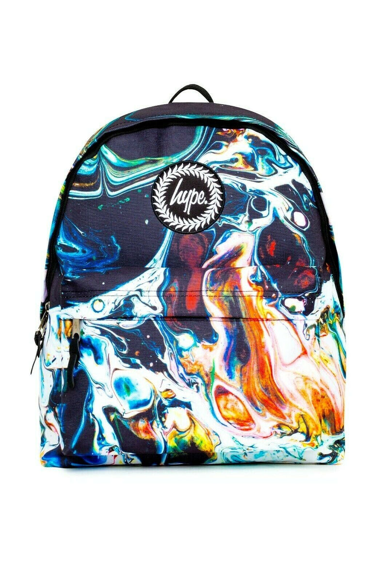 HYPE MARBLED BACKPACK RUCKSACK BAG - MULTI
