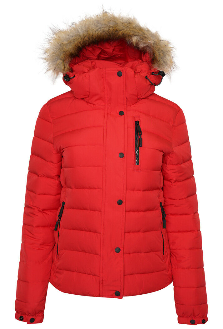 Classic Faux Fur Fuji Jacket - High Risk Red