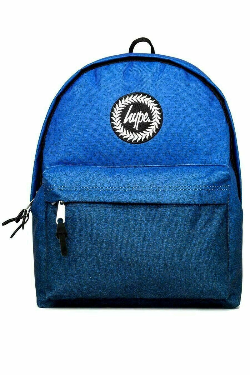 HYPE SPECKLE FADE BACKPACK RUCKSACK BAG - NAVY/ROYAL BLUE