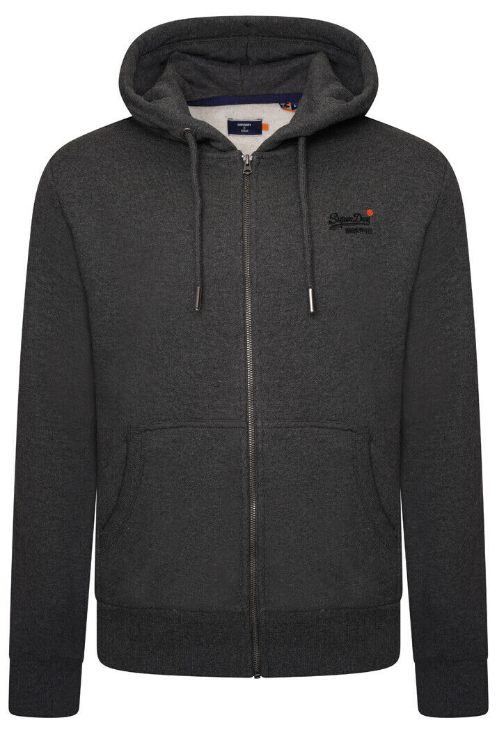 Orange Label Classic Zip Hoodie - Dark Marl