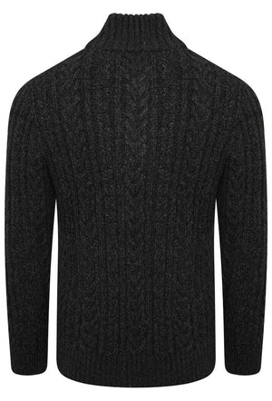 Jacob Henley Jumper - Magma Black Twist