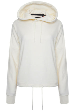 Orange Label Elite Crop Hoodie - Buttercream