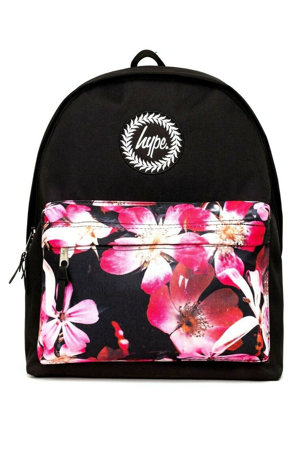 Floral Pocket Backpack - Black/Multi