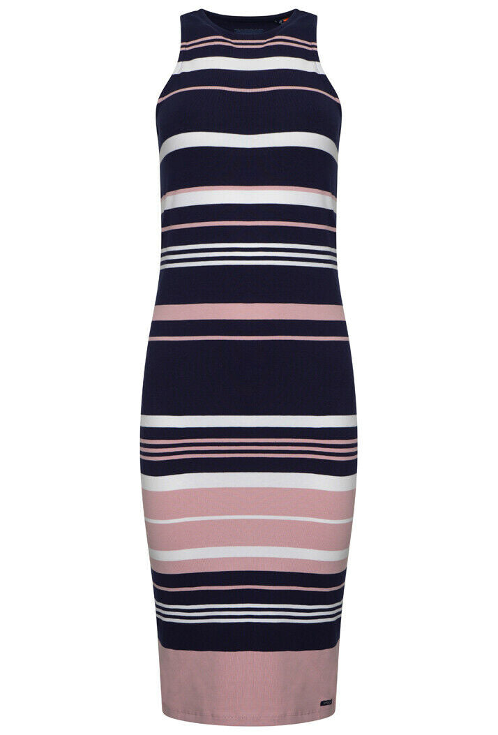 Verigated Stripe Midi Dress - Soft Pink