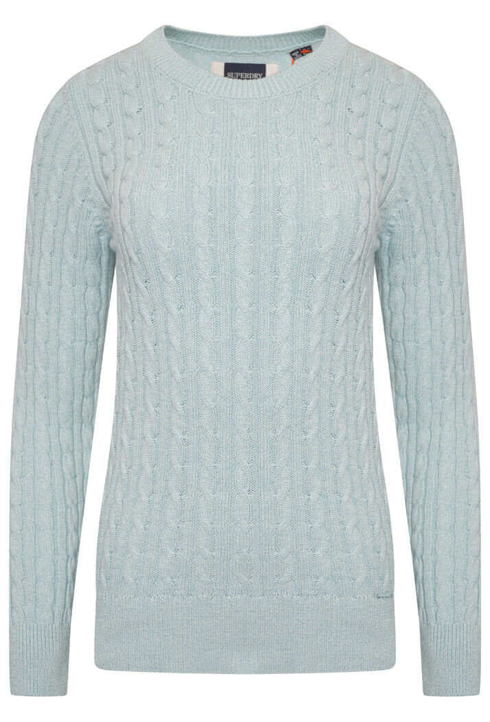 Croyde Bay Knitted Jumper - Powder Turquoise