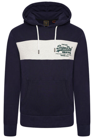 Vintage Logo Panel Hoodie - Atlantic Navy