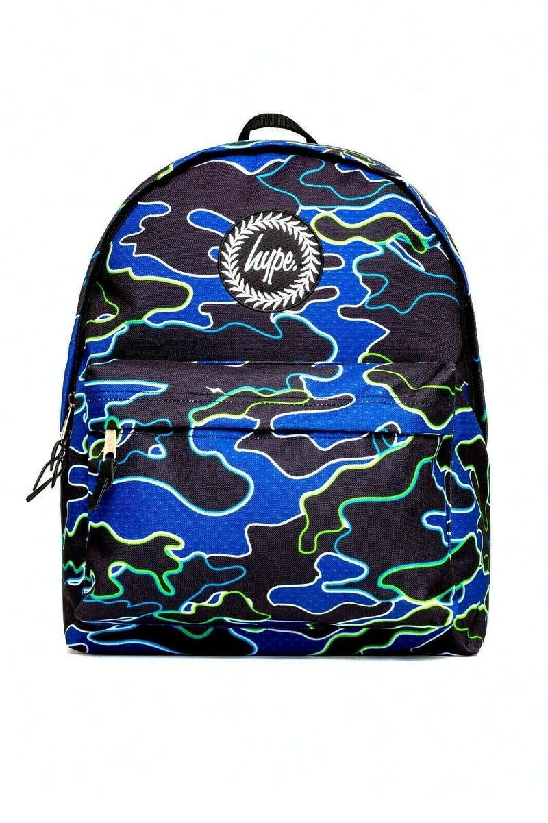 HYPE LINE CAMO BACKPACK RUCKSACK BAG - MULTI