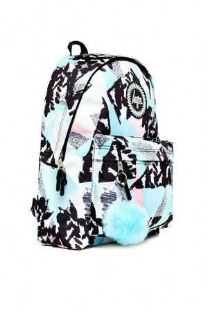 HYPE PASTEL ABSTRACT BACKPACK RUCKSACK BAG - MULTI