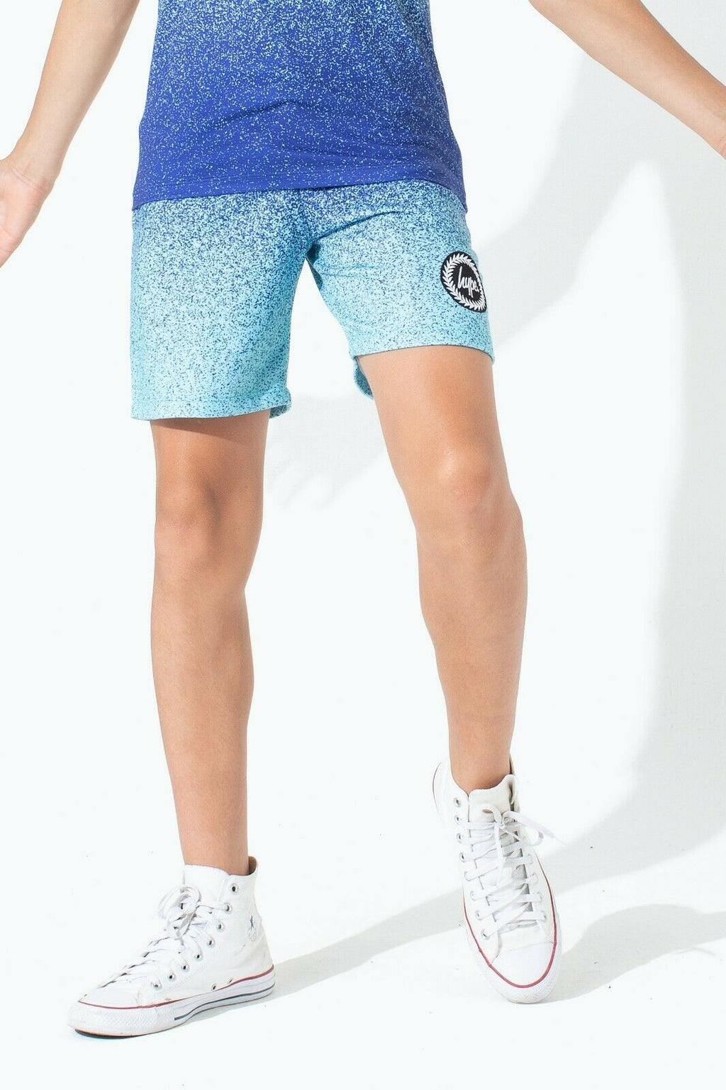 Speckle Fade Mint/Blue Kids Shorts