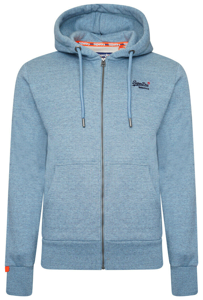 Orange Label Classic Zip Hoodie - Desert Sky Blue Grit