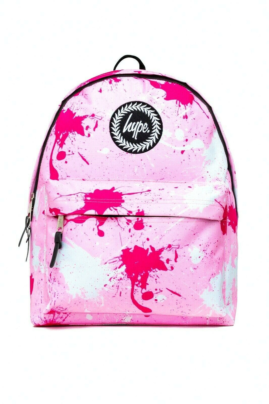 HYPE SPLATTER BACKPACK RUCKSACK BAG - PINK/FUSCHIA/WHITE