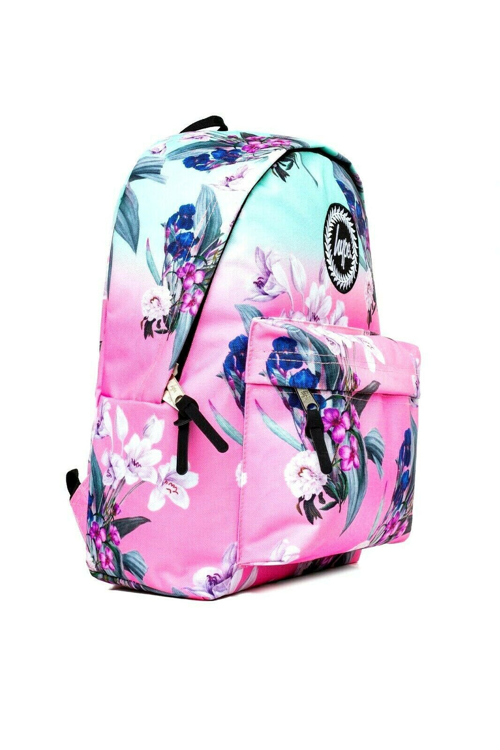 HYPE FLORAL FADE BACKPACK RUCKSACK BAG - MULTI