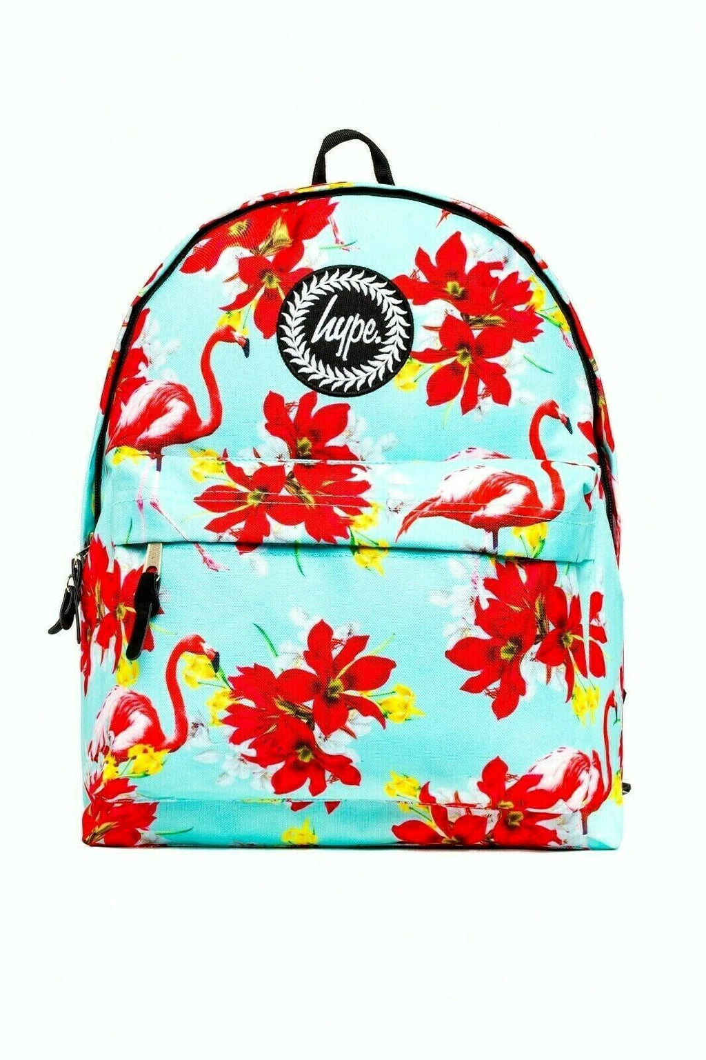 HYPE MINT FLAMINGO BACKPACK RUCKSACK BAG - MINT/MULTI